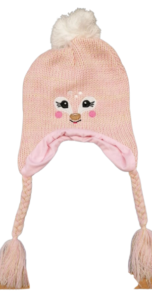 Yo Club Παιδικός Πλεκτός Σκούφος Με Αυτάκια Αλεπουδιτσα, Ροζ