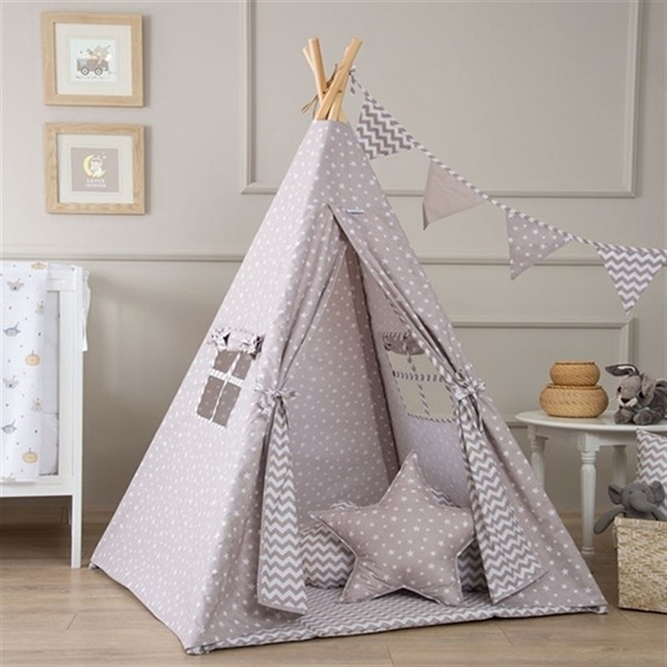 Picture of FunnaBaby Παιδική σκηνή Tepee Taupe