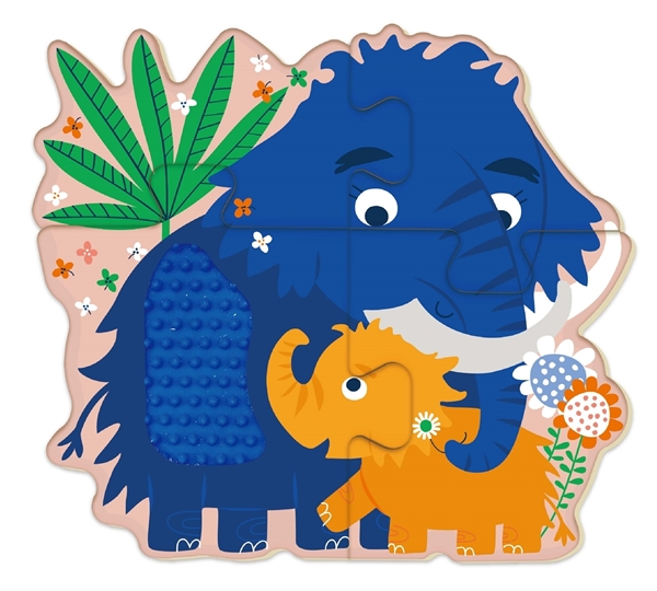 Avenir Ξύλινο Παζλ Touch Puzzle Dinosaur