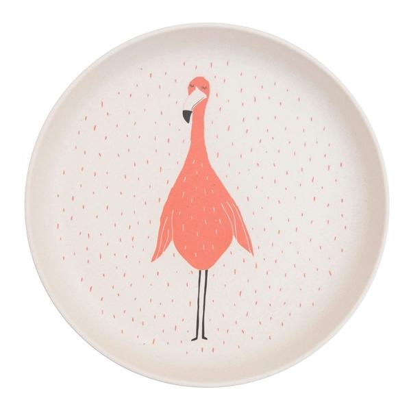 Trixie Πιάτο από Μπαμπού Mrs. Flamingo