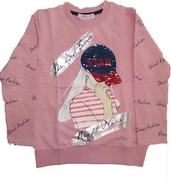 Εβίτα Fashion Μπλούζα Μακρυμάνικη Κορίτσι, Ροζ