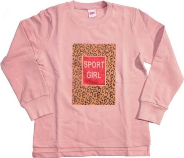 TRAX Σετ Μπλούζα Φούτερ Sport Girl, Πούδρα