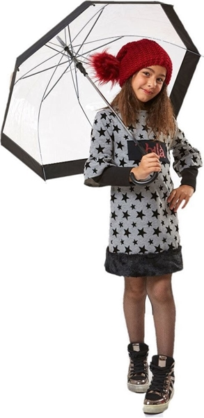 Εβίτα Fashion Φόρεμα Φούτερ Με Γούνα, Γκρί