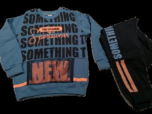 TRAX Σετ Φόρμας Sportswear Μπλέ - Πορτοκαλί