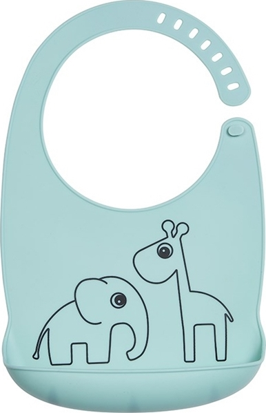 Done by deer Σαλιάρα Silicone Bib Deer Friends Blue