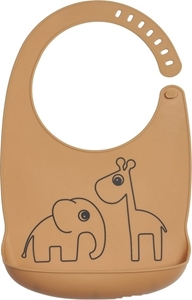 Done by deer Σαλιάρα Silicone Bib Deer Friends Mustard