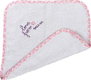 Λαβέτα Ώμου Love from Mum Ροζ 30x30cm