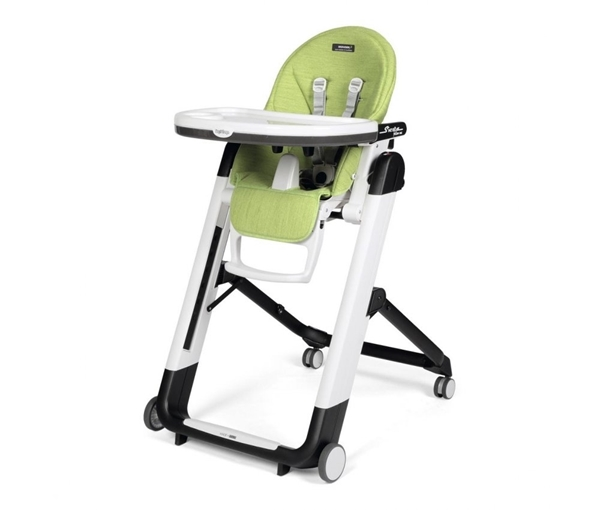 Peg Perego Καρέκλα Φαγητού Siesta Follow Me, Wonder Green με ΔΩΡΟ μαξιλάρι Baby Cushion