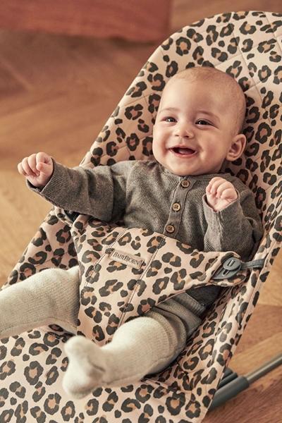 BabyBjorn Ρηλάξ Balance Bliss Cotton Beige Leopard