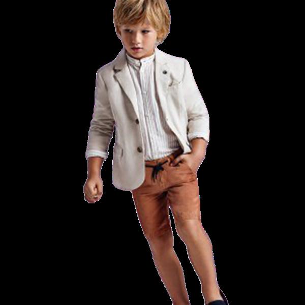 Mayoral Βερμούδα Λινή Για Αγόρι, Πορτοκαλί