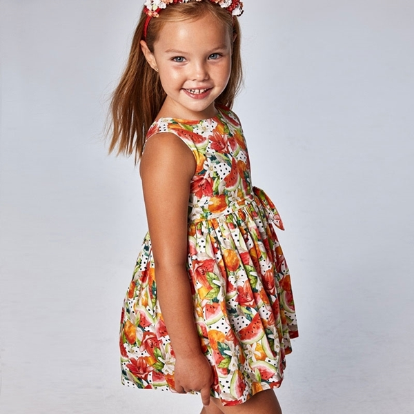 Mayoral Παιδικό Φόρεμα Σταμπωτό, Λωτός