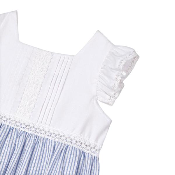 Mayoral Παιδικό Μακρύ Φόρεμα Με Ρίγες, Γαλάζιο