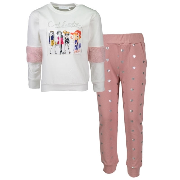 Εβίτα Fashion Παιδικό Σετ Μπλούζα Mε Κολάν Collection, Ροζ