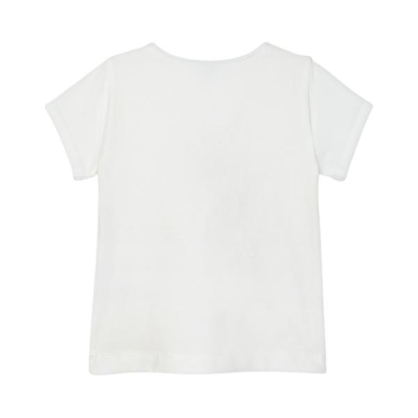 Mayoral Παιδική Κοντομάνικη Μπλούζα Για Κορίτσι , Λευκή