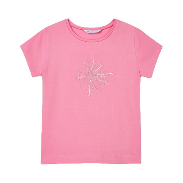 Mayoral Παιδική Κοντομάνικη Μπλούζα Για Κορίτσι Ecofriends, Ροζ