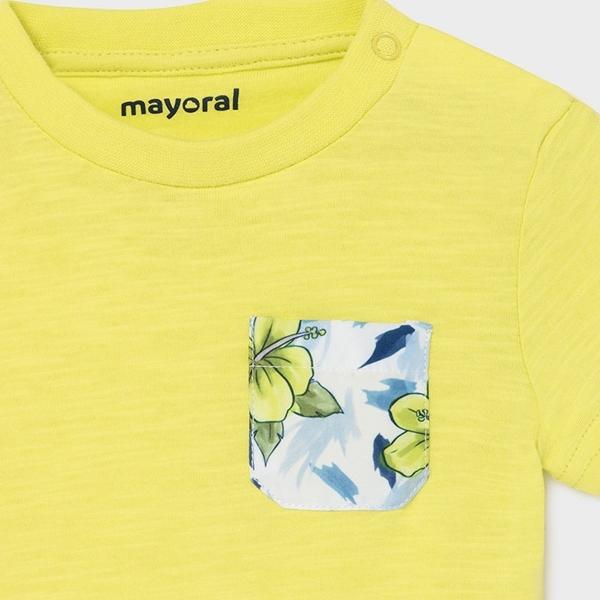 Mayoral Bebe Σετ Μπλούζα Μαγιώ Για Νεογέννητο Αγόρι, Κίτρινο