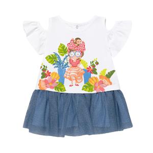 Mayoral Bebe Φόρεμα Για Νεογέννητο Κορίτσι, Γαλάζιο