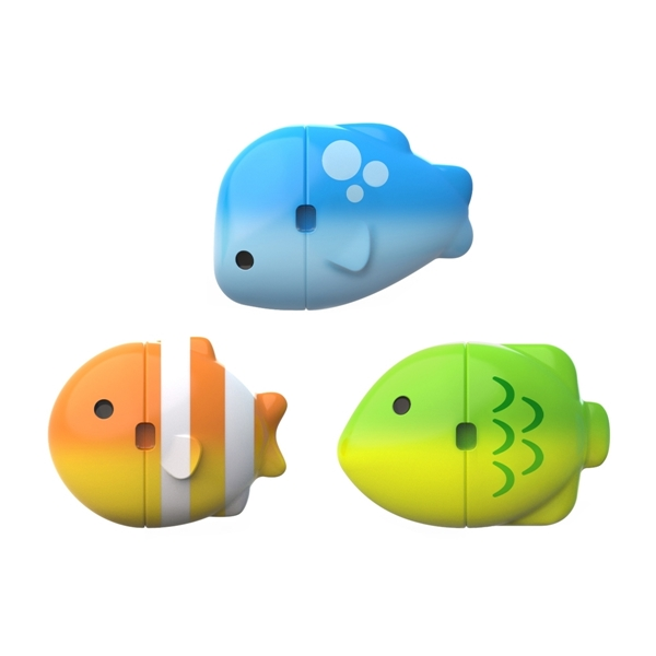 Munchkin Παιχνίδι Μπάνιου Colour Mix Fish Σετ 3τμχ