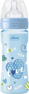 Chicco Well Being Μπιμπερό Πλαστικό Μπλε Θ.Σ. 2m+ 250ml