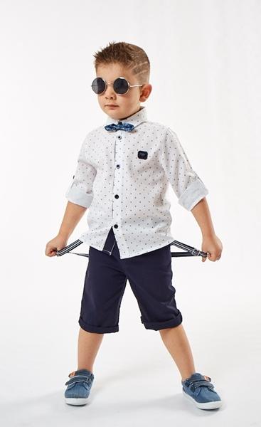 Hashtag Παιδικό Σετ Πουκάμισο Με Παπιγιόν Για Αγόρι, Μπλέ