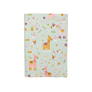 Καρφιτσωμένος Γάτος - Υφασμάτινη Θήκη για Βιβλιάριο Υγείας - Pink Llama