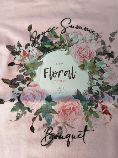 Joyce Σετ Κάπρι Για Κορίτσι Flowers, Ροζ