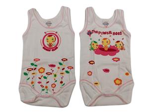 Ersa's Σετ 2 Φανελάκια Ολόσωμα Για Νεογέννητο Κορίτσι Μελισσούλα , Λευκό