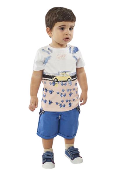 Hashtag Baby Σετ Βερμούδα Και Μπλουζα Σκαραβέος, Μπλέ