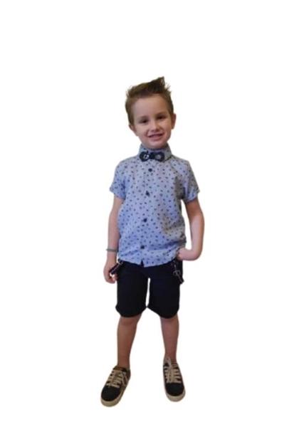 Hashtag Παιδικό Σετ Παντελόνι Και Πουκάμισο Camera, Μπλέ