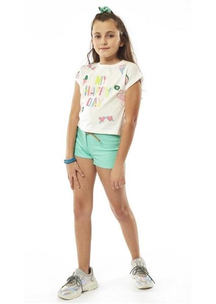 Εβίτα Fashion Μπλούζα Κοντομάνικη Παγωτά, Εκρού
