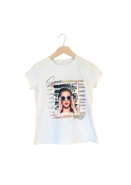 Εβίτα Fashion Μπλούζα Κοντομάνικη Κορίτσι, Λευκή