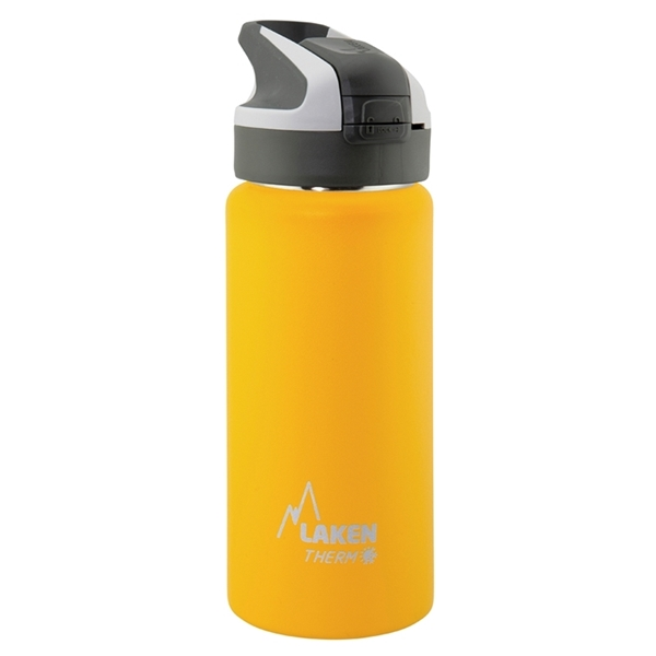 Laken Θερμός Inox 0.5L Grey - Yellow