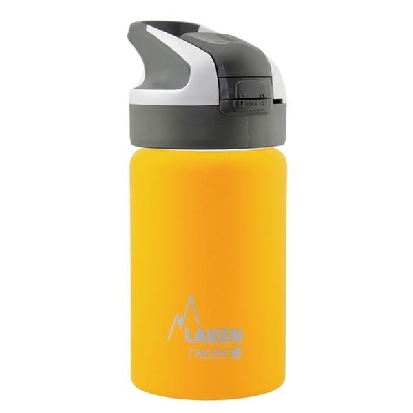 Laken Θερμός Inox 350ml με Καλαμάκι Tritan Grey - Yellow