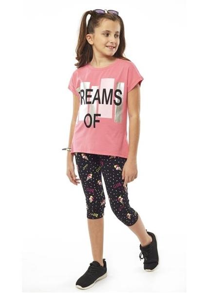 Εβίτα Fashion Σετ Κάπρι,Με Κοντομάνικη Μπλούζα Dreams, Φούξια