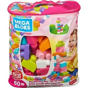 Fisher Price - Mega Blocks Τουβλάκια Ροζ (Τσάντα 60 τμχ)