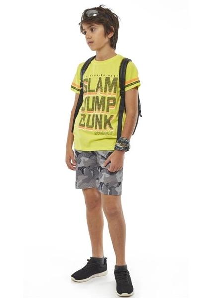 Hashtag Σετ Μακώ Βερμούδα Και Κοντομάνικη Mπλούζα Los Angeles Για Αγόρι, Lime