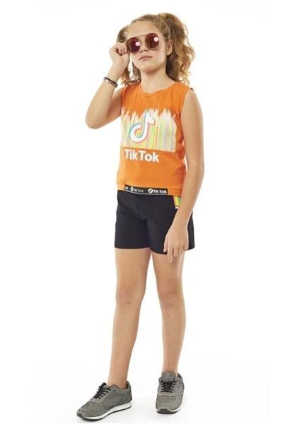 Εβίτα Fashion Σετ Σορτς Τικ Τοκ, Πορτοκαλί