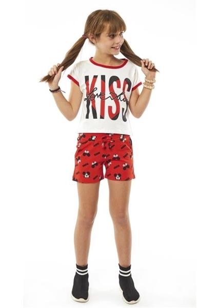 Εβίτα Fashion Σετ Σορτς Kiss , Κόκκινο