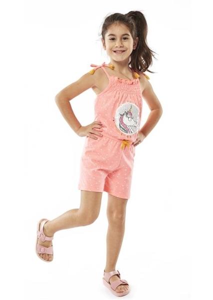 Εβίτα Fashion Παιδική Ολόσωμη Φόρμα Σορτς Unicorn, Έντονο Ροζ