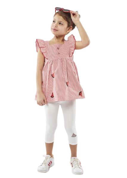 Εβίτα Fashion Παιδικό Σετ Κάπρι Με Τουνίκ Καρπουζάκι, Κόκκινο