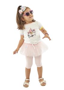 Εβίτα Fashion Bebe Σετ Κάπρι Με Τουτού Και Κοντομάνικο Μπλουζάκι Ice Cream, Ροζ