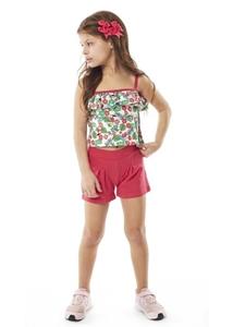 Εβίτα Fashion Παιδικό Μακώ Σετ Σορτς Και Μπουστάκι Φλαμίνγκο, Ροζ