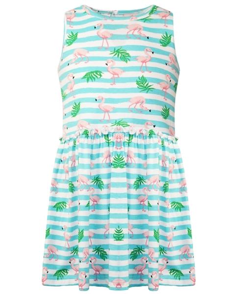 Energiers Παιδικό Φόρεμα Μακώ Φλαμίνγκο , Aqua