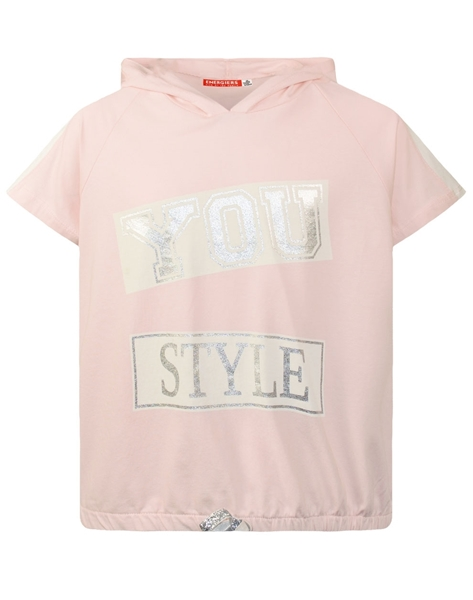 Energiers Μπλούζα Με Κουκούλα Για Κορίτσι, Ροζ