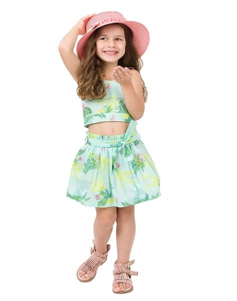 Energiers Παιδικό Σετ τοπ και φούστα , Λαχανί