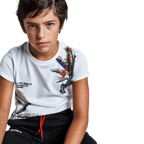 Mayoral Σετ Μακώ Βερβούδα Με Μπλούζα Για Αγόρι, Γραφίτης