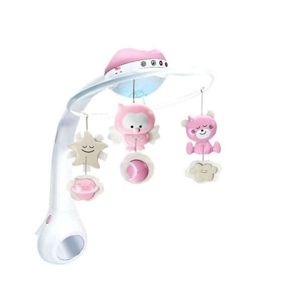 Infantino Μουσικό Περιστρεφόμενο με Προτζέκτορα 3 σε 1 Pink