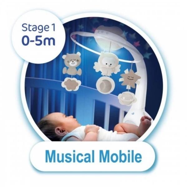 Infantino Μουσικό Περιστρεφόμενο με Προτζέκτορα 3 σε 1 Ecru