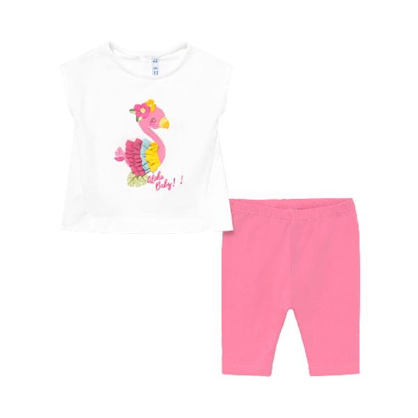 Mayoral Bebe Σετ Κολάν, Μπλούζα Για Νεογέννητο Κορίτσι, Ροζ