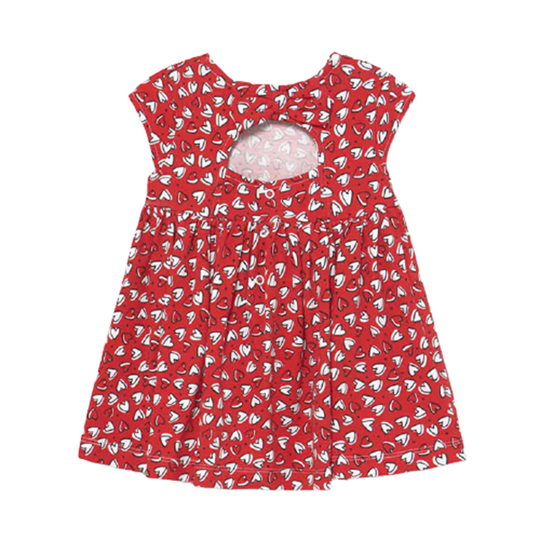 Mayoral Bebe Φόρεμα Μακώ Για Νεογέννητο Κορίτσι, Κόκκινο